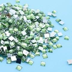 (몽스쿨) DS0047-8 사각네모큐빅 초록 0.6cm(200P)_(1581383)