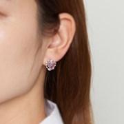 퍼플 하트 팬스 귀걸이