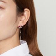 러블리 튤립 드롭 귀걸이