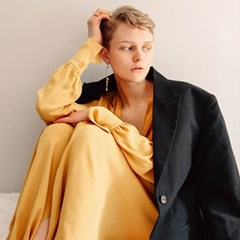 19 SS for her. MAXI ROBE (mustard)