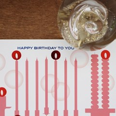 Birthday Card with Candle light sticker - ver.2 (생일카드)