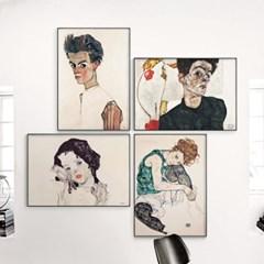 메탈 명화 인테리어 초상화 그림 액자 에곤 쉴레 9