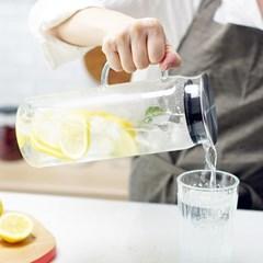 마린 내열유리 워터저그 냉장고 물병 1300ml