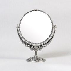 큐티 메탈 장미 원형 스텐드 화장대 거울 스몰-2색상