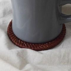 핸드메이드 라탄 코스터 컵받침 홈카페 소품