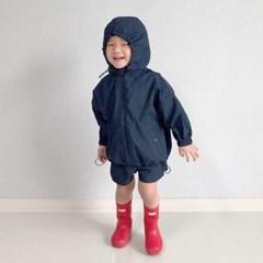 퀄리티후드 아동 바람막이 상하세트