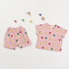 도형 아동 잠옷 상하세트
