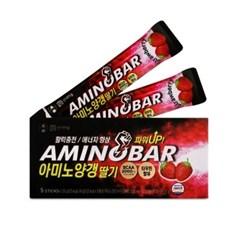 [행복담은식탁] 아미노산 에너지바 아미노양갱 딸기맛 1박스 5개입