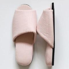 pink linen slipper