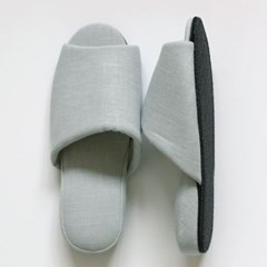 mint linen slipper