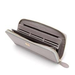 [Guy Laroche] 기라로쉬 사피아노 카드수납 지퍼장지갑-그레이