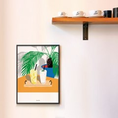 유니크 인테리어 디자인 포스터 M 레모네이드와 스무디 카페
