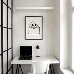유니크 인테리어 디자인 포스터 M 고양이 호텔