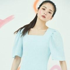 Square neck Minimal Dress in Sky Blue