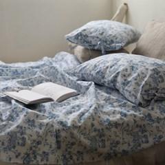 [Fabric] 블루트왈 린넨 Blue Toile Linen (아이보리색 밑지)