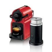 [네스프레소] 이니시아 C40+에어로치노 캡슐 커피머신 RD+WH