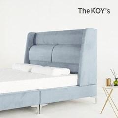에블린 아쿠아텍스 패브릭 평상형 침대 프레임 퀸