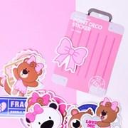 테디아일랜드 캐리어 스티커-Pink