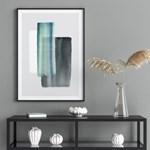 로얄블루 추상화 그림 인테리어 액자 포스터