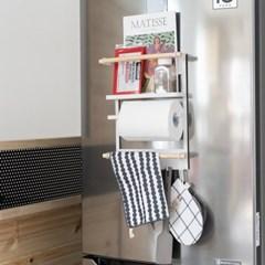 [모토] 철제 자석 냉장고 벽선반 자석선반 키친타올걸이_(1014154)
