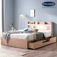 알렉산더 LED 4단 수납 침대(매트제외-Q)