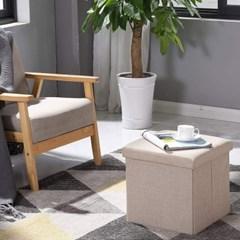 로티홈시스 접이식 베이직 수납 스툴 1인용 화장대 간이 의자