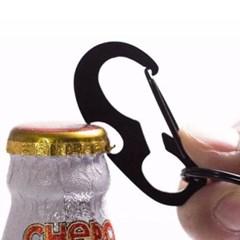 심플 블랙 오프너 열쇠고리 1개
