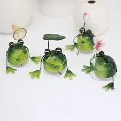 철제 곤충채집 개구리 4P 세트