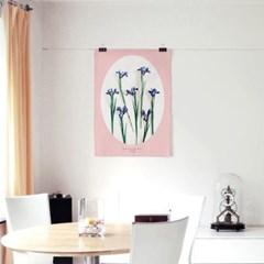 패브릭 포스터 F298 꽃 식물 인테리어 천 액자 아이리스