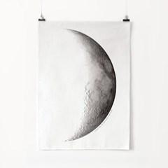 패브릭 포스터 F008 하늘 달 우주 풍경 액자 Moon