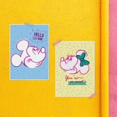 디즈니 인테리어 포스터 - 미키마우스 4종