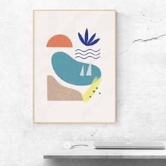 Summer 일러스트 포스터 or 그림판넬