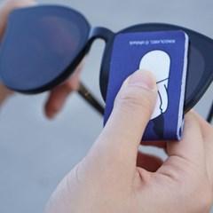 오우덕 휴대용 초극세사 안경닦이 (깔끔하게 보관하는 케이스 포함)