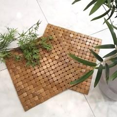 [한일카페트][1+1] 디자인 마작 대나무 방석 라운드