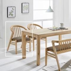 [데코마인] 론디 쿠션체어/식탁의자/원목의자/홈바의자