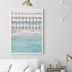비치파라솔 해변 풍경 액자 인테리어 그림 포스터