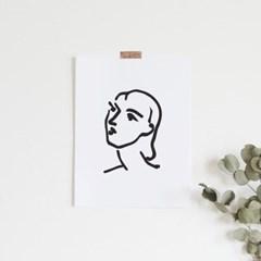 나디아 앙리마티스 그림 액자 드로잉 인테리어 포스터