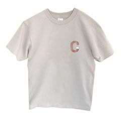 티셔츠 Curo font C (Ash, Silver gray)