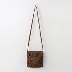Rattan Knitting Shoulder Bag
