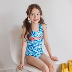 스플래쉬 원피스 수영복(블루)