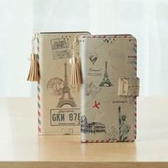 아이폰6s플러스 Encanto-Travel-T 지퍼 지갑 다이어리 케이스