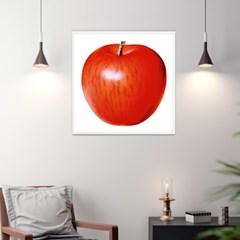 홍사과액자 정사각형 대형 사과그림 화이트 골드 60x60cm