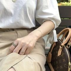 [925실버] 2라인 볼 포인트 팔찌 2line ball point bracelet