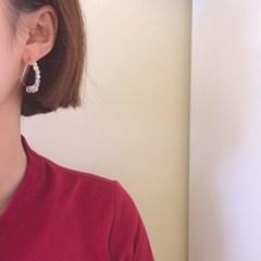 [큐빅 링 귀걸이] 알로하 이어링