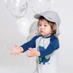 쿵스쿵스UV플랩캡(도브그레이) 유아플랩캡 아동수영모 썬햇