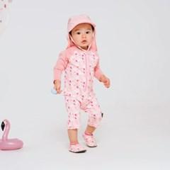 [UPF50+]쿵스쿵스 스완올인원래쉬가드 유아수영복 유아래쉬가드