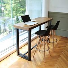 라센 뉴송 우드슬랩 통원목 바 테이블 1800_(774141)