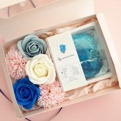 탄생석&비누꽃 선물세트
