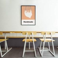 유니크 인테리어 디자인 포스터 M 핸드메이드 생크림 베이커리