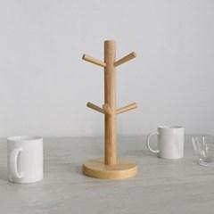 에코상사 고무나무 원목 컵걸이